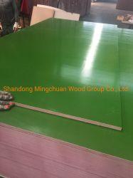 18мм из твердых пород дерева водонепроницаемый пластиковый системной платы с покрытием зеленый PP пластиковую пленку, с которыми сталкиваются фанеры