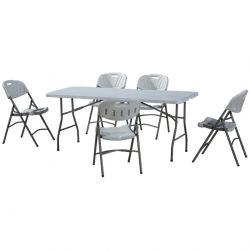 Multifunctionele rechthoek, plastic, opvouwbaar in de helft van de tafel voor Picknick Balcony