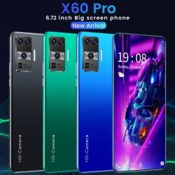 Мобильный телефон HYT-X60 PRO 6.72 дюйма разблокировать сотовый телефон дешевые OEM смартфон Android 2g+16g Face Recognition
