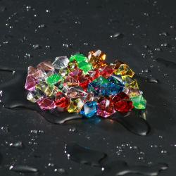 Las rocas de hielo de acrílico de gemas de la tabla dispersa del Tesoro, vase rellenos