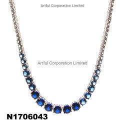 New Fashion Blue gradualmente Collana Argento Collane Argento Gioielli di Moda