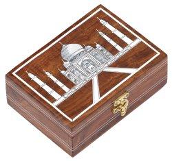 Старинная Складная коробка для хранения ювелирных изделий из дерева в салоне оптовая торговля