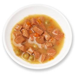 طعام الكلاب الرطبة مصنعي المعدات الأصلية مع الدجاج والخضروات المعلبة الغذاء