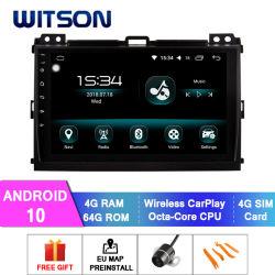 Witson Android con pantalla táctil de 10 Alquiler de DVD para 2006-2010 Toyota Prado 4GB de RAM 64 GB de memoria Flash Pantalla grande en el coche reproductor de DVD