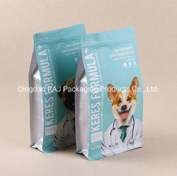 ジッパーのゆとりのWindowsまたは平底が付いている飼い犬の猫の餌のプラスチックジップロック式のパッケージ
