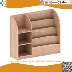 La mobilia di legno di faggio del banco scherza la mensola di libro per l'asilo