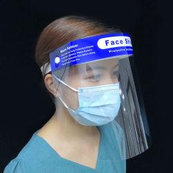 Il grande virus trasparente della corona del virus della visiera della maschera di protezione anti Eyes la mascherina di protezione della bocca, anti visiera della nebbia su sui telai dell'ottica di vetro di lettura