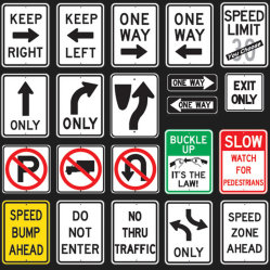 Aluminium-Verbundplatte ACP Reflektierende Verkehrsschilder für die Verkehrssicherheit Warnschild