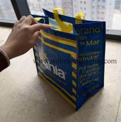 Laminado promocionales tejidas PP Bolsa de compras para la exposición Don