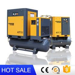 General Industrial Equipment Factory Silent Oil Free Rotary Screw Air Compressormachine met luchtcompressor onderdelen met koelluchtdroger En Tank-maaidorser