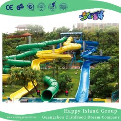 성인과 아이 (HHK-9601)를 위한 물 공원 운동장 물 집 물 미끄럼