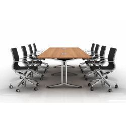 Sala de Conferencias de oficina modernos de madera mesa de reuniones ejecutivas