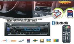 En gros 1 DIN amovible Voiture Lecteur MP3 avec entrée auxiliaire/USB/SD