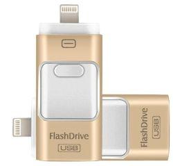 二重OTG USB 3.0のフラッシュ・メモリ駆動機構32GB 64GB USBのフラッシュ駆動機構(コンピュータおよびsmartphoneのiPhoneのために)