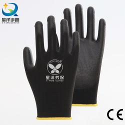 La norma EN388 4131X 13G de la camisa de poliéster con recubrimiento de PU de seguridad de trabajo trabajar mano guantes industriales con CE