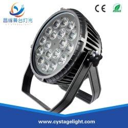 Indicatore luminoso di lavaggio esterno multicolore di PARITÀ LED di alto potere 18X12W RGBWA