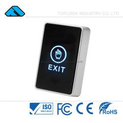 O sistema de controle de acesso de segurança da porta do sensor de toque no botão de Destrave de Saída