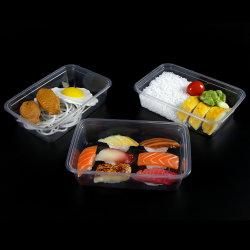 Banheira de venda da farinha de Plástico Preto Prep Microondas Takeaway biodegradáveis de contentores de plástico descartáveis térmica recipiente de alimentos de PP