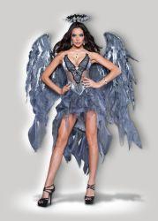 A lingerie sexy Mascote de fatos do Dia das Bruxas Adulto fantasias de Carnaval de alimentação de parte do desejo do Anjo Escuro