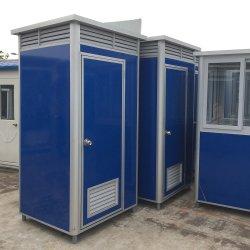 China Proveedor Industrial Camping wc portátil de color de la unidad de cuarto de baño, ducha y wc de dos piezas de baños portátiles