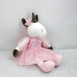 핑크 드레스 수퍼 소프트 베이비 걸의 속을 채운 동물 유니콘 인형 장난감 제공 화이트 유니콘 플러쉬