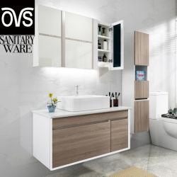 Migliore toletta di legno di vendita del Governo di stanza da bagno della stanza da bagno dell'OEM della mobilia di marmo di vanità