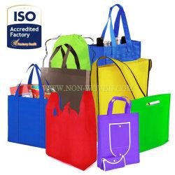 Il sacchetto di acquisto non tessuto ecologico, sacchetto di Drawstring, trasporta il sacchetto, il sacchetto della chiusura lampo, il sacchetto di drogheria, il sacchetto di banco, le borse, il sacchetto di Eco, il sacchetto di indumento, il sacchetto di elemento portante, sacchetto non tessuto del panno del Tote