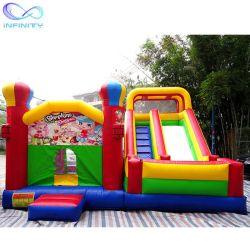 スライドの子供の公園のための膨脹可能な跳躍の家の警備員のスライドを持つ新しい屋外の膨脹可能なコンボの警備員