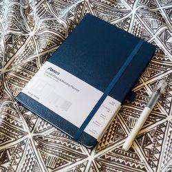 Op maat gemaakte hardcover met elastische sluiting A5 PU Leather Planner Notebook Persoonlijk logo voor promotie