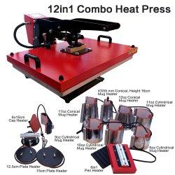 12 en el Combo de 1 de la máquina de prensa de calor 40*60cm de tamaño grande Multifuntional Máquina de transferencia de calor