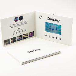 LCD de 4,3 pouces brochures de promotion de la vidéo des cartes de voeux avec 8 Go de mémoire