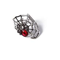 L'échantillon disponible Mode bijoux Mesh Silver Ring avec Red Rhinestone