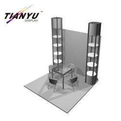 Basamento portatile leggero di Tianyu della visualizzazione della fiera commerciale della cabina del panno di formato su ordinazione