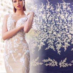 Sauces con 3D Diseño de flores de encaje bordado de hermosos vestidos de novia