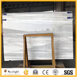 Marmo bianco naturale di periodo di glaciazione con le vene grige per la decorazione interna