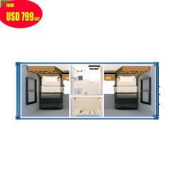 Портативная 2 спальня сегменте панельного домостроения в Китае дома контейнер отель
