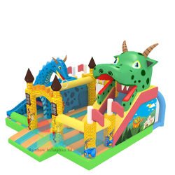 Hot Sale Rainbow Inflatable Jungle Animal Dinosaur Bouncer for Kids