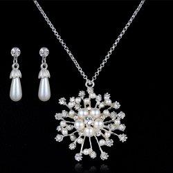 真珠のコレクションNecklaceeかイヤリング925の銀及びCZは方法宝石類か宝石類を真珠で飾る
