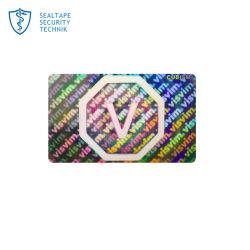Etiket Van uitstekende kwaliteit van de Sticker van de Druk van het Ontwerp van het Embleem van de Douane van de garantie het Nietige Acryl Holografische