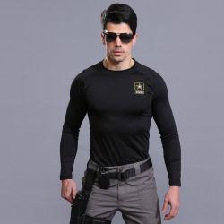 Noir- (Star) militaire léger chaud de la formation sous-vêtement thermique costume à manches longues