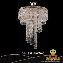 Luxury Hotel interior moderna decorativa falso lustre de cristal Haste