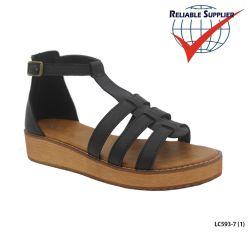 Mode Femmes des chaussures plates gladiateurs Cross Strappy sandales d'été avant