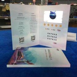 2018 usine chinoise de la vidéo numérique vierge LCD Brochure Carte de souhaits pour l'invitation