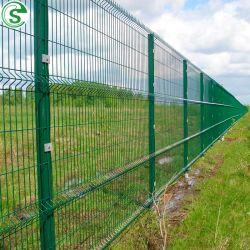 Painel de arame de aço rígida o gerador de malha de Solda Green Revestidos de perímetro Villa