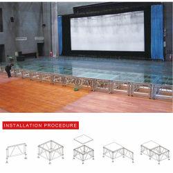 Алюминиевые Fashion Show акрилового покрытия взлетно-посадочной полосы мостик стеклянные ступени
