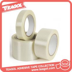 ガラス繊維パッキングのためのフィラメントによって補強される粘着ペットテープ