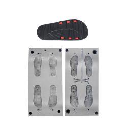 Fábrica de Jinjiang buen precio el logotipo del fabricante de diseño de moda zapatos de suela plana de la diapositiva de inyección de molde de espuma EVA