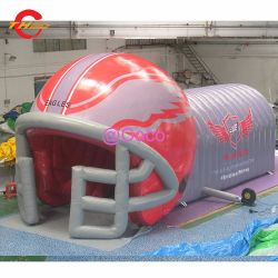 8 metros de túnel de capacete de futebol insuflável