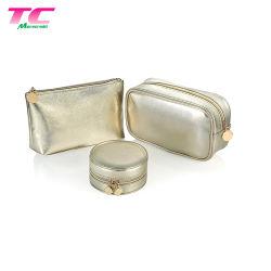 Золото силиконового герметика косметический мешок Iridescent макияж дорожная сумка с молнией