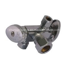 熱い販売の圧縮の接続の二重ハンドル停止弁(J81)